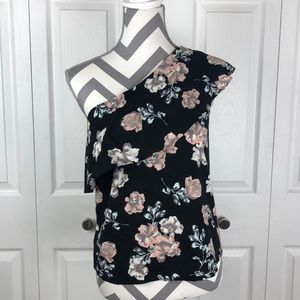 NWT One Shoulder Love-Fire Blouse